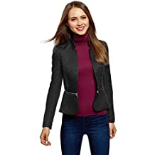 da7d2153a8906 oodji Ultra Mujer Chaqueta Transformable con Parte Inferior Desmontable