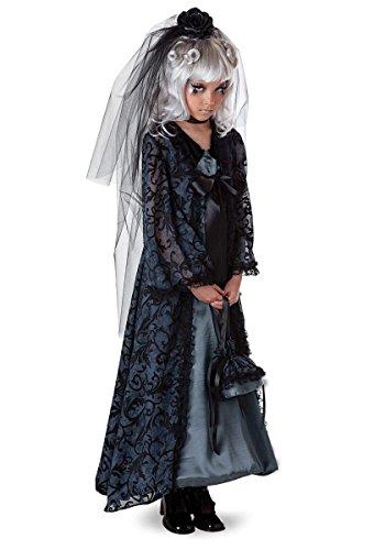 Mitternachts Braut Kinder Mädchen Fasching Halloween Karneval Kostüm Kleid (Kostüm Mitternacht Braut)