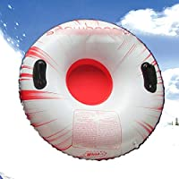 ZHAOK Trineo 80 cm de diámetro Inflatable Snow Tube Snow Tube for Winter Fun Inflatable, for Kids and Adults, Sturdy Sledding Tubes, Easy To Grip Handles