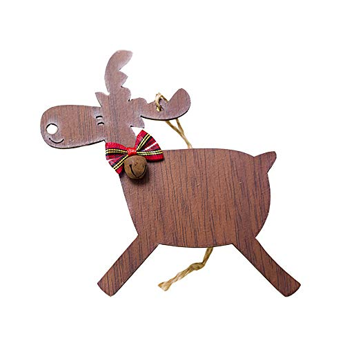 DOLLAYOU Christbaum Glocken Weihnachten Deko Hirsch Hirsch Rentier Elch Christbaumkugeln Geschenke Christbaum Anhänger Klein Rehe Christmas