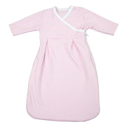 TupTam Baby Unisex Langarm Innenschlafsack, Farbe: Streifenmuster Rosa, Größe: 86/92