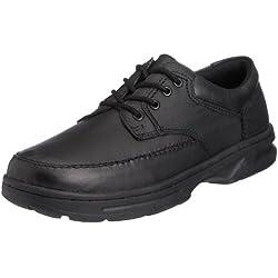 Dr Keller 0103382090 - Zapatos de cuero para hombre, color negro, talla 43
