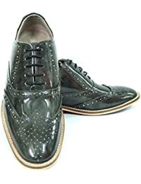 Greyesh Green Italian Two Tone Leather Oxford Shoes With Handmade Neolite Sole, Leather Insole, Leather Lining...
