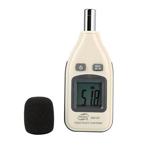 BENETECH GM1351 30-130dB Digital Schallpegelmesser Noise Audio Lautstärkemonitoring Test dB Dezibel Detektor mit LCD Hintergrundbeleuchtung