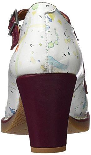 ART Damen 1070 Fantasy StTropez Hohe Absätze mit Geschlossener Spitze Elfenbein (Multi White)