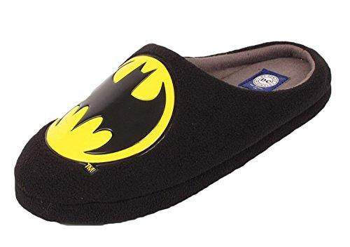 Mens-DC-Comics-Original-Mule-Slippers-Novelty-Batman-Slip-On-Black-sizes-7-12-910-UK