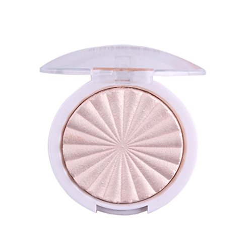 TPulling Professionelle Wasserdichte 3D Schimmer Highlighter Gesichtspuder Palette Gesicht Basis Glanz Illuminator Make-up (B)