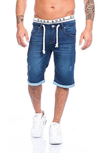 Lorenzo Loren Herren Shorts Jeansstyle Denim Shorts Kurzehose LL-03-W29-W38 [Gr. 33]