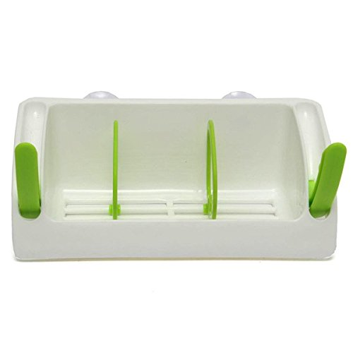 bluelover-ventosa-fuerte-cocina-cepillo-esponja-fregadero-toalla-drenaje-holder-lavado-rack-verde