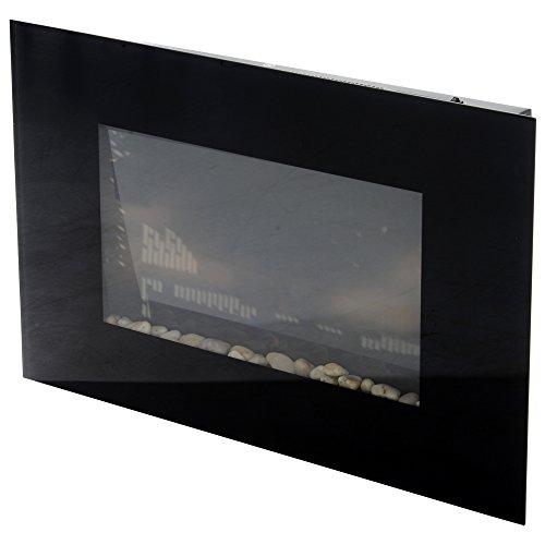 Homcom camino elettrico da parete potenza 1000w/2000w effetto fiamma 7 colori con telecomando 90 × 9.5 × 56cm