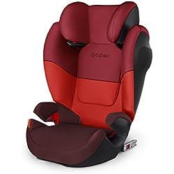 CYBEX Silver Siège Auto Solution M-Fix SL, Adapté aux Voitures Avec ou Sans Isofix, Groupes 2/3 (15-36 kg), De 3 Ans à 12 Ans Environ, Rumba Red