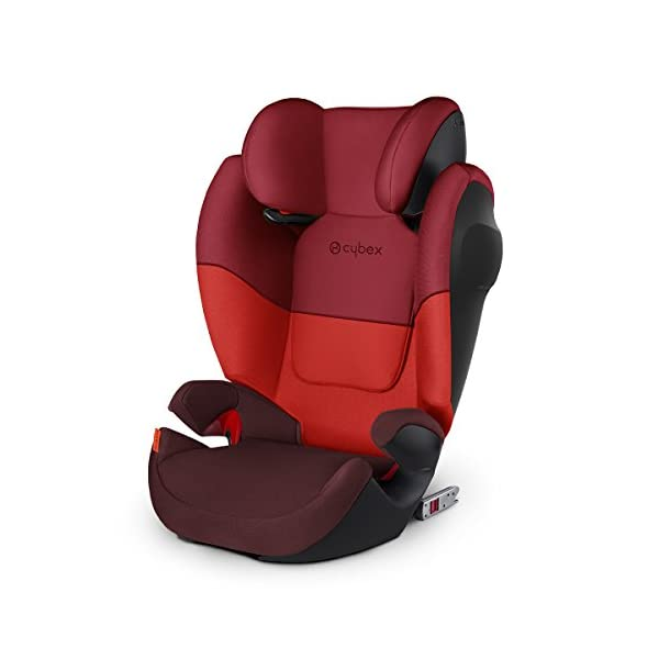 CYBEX Silver Solution M-Fix SL Child's Car Seat, for Cars with and Without ISOFIX, Group 2/3 (15-36 kg), from Approx. 3 to Approx. 12 Years, Rumba Red  Sturdy and high-quality child car seat for long-term use - For children aged approx. 3 to approx. 12 years (15-36 kg), Suitable for cars with and without ISOFIX Maximum safety - Built-in side impact protection (L.S.P. System), Energy-absorbing shell 12-way adjustable, comfortable headrest, Adjustable backrest, Ventilation system 1