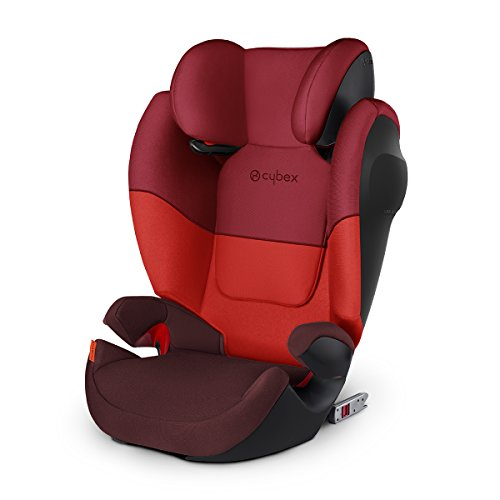 Cybex Silver Solution M-fix SL, Autositz Gruppe 2/3 (15-36 kg), mit Isofix, Rumba Red