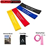 Alpha Forge Ultimate Resistance Exercise Band Kit - Thick Loop Resistance Band Set