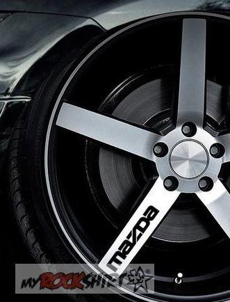 6 x Mazda Felgenaufkleber Felgen Aufkleber,Sticker von myrockshirt ®, Autoaufkleber,Auto,Lack,Scheibe, Tuning , Racing aus Hochleistungsfolie ohne Hintergrund Profi-Qualität viele Farben zur Auswahl MADE IN GERMANY