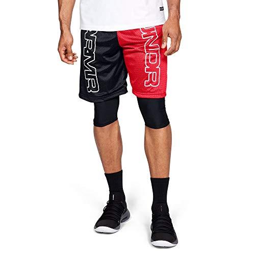 Court Basketball Shorts (Under Armour Herren Baseline Court Short Kurze Hose, Rot, SM)