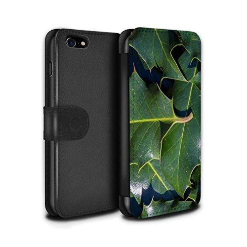 Stuff4 Coque/Etui/Housse Cuir PU Case/Cover pour Apple iPhone 7 / Herbe/Gazon Design / Plantes/Feuilles Collection Houx