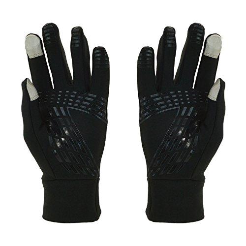 Rutschfest Touchscreen Handschuhe – UPhitnis Sport Fahrradhandschuhe für Herren, Damen – Outdoor Radsport Winddicht Winterhandschuhe mit Schwarz, Rot, Rosa - 2