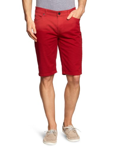 Fallen Herren Shorts FALLEN Pant Short WINSLOW Twill, washed red, 34, FALMPAS WIN (Dc Chino-short)