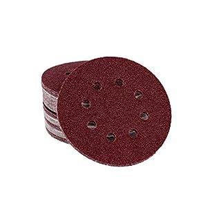50 Blat Exzenterschleifscheiben Korn 40, Ø 125 mm – 8 Loch - Klett/Haft Schleifscheiben für Exzenterschleifer/Schleifscheiben/Exzenterschleifpapier