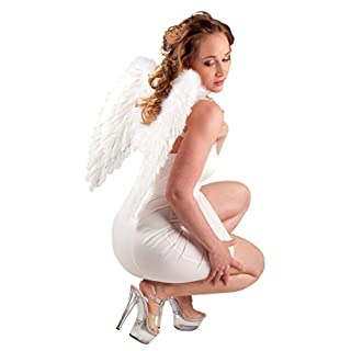 White Feather Angel Wings Adults Fancy Dress Mens Womens Costume Accessory
