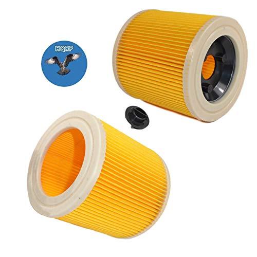 HQRP Patrone Filter für Kärcher WD3.200, wd3.230, WD3.300, wd3.310, wd3.320, wd3.370, WD3.500, wd3.600, wd3.800, wd3.150, WD 3200, WD 3300, WD 3500, WD 3800Staubsauger + HQRP Untersetzer