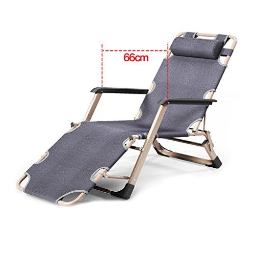 RKY Liegestuhl Folding Recliners Mittagspause Siesta Stuhl Büro Bett Rückenlehne Lazy Beach Chair...
