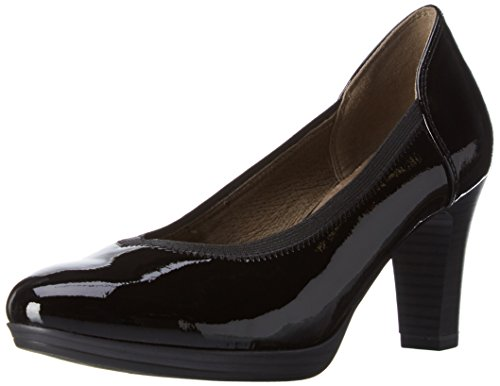 Tamaris Damen 22403 Pumps Schwarz (Black Patent 018)