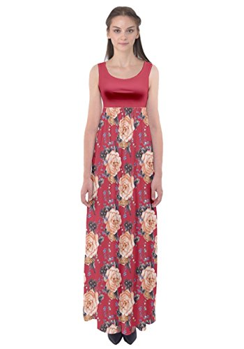 CowCow - Robe - Femme Pink Roses Red 2