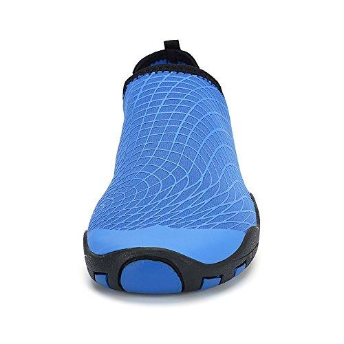 Dannto Uomo Donna Scarpe da Acqua Quick Dry Water Scarpe Aqua Leggero per Spiaggia, Nuoto, Yoga, Diving Size 35-46 blue-A
