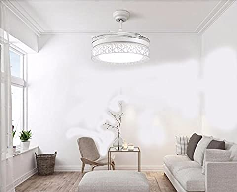 FGSGZ Stealth Deckenventilator Fan Light LED Minimalistisch 36 Zoll Home Decor Die Steuerung Wand Durchmesser 91 (Fan-wand Steuerung)