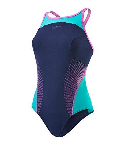 speedo-fit-splice-maillot-de-bain-femme-marine-vert-fr-32-taille-fabricant-32