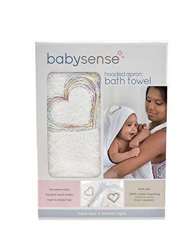 BABY SENSE Ba Sense Extra-Große Kapuze Schürze Kleinkind Badetuch - Weiche & beruhigende 100% saugfähige Baumwolle - Perfekte Größe für Jungen Oder Mädchen - Premium ba Dusche Geschenk -
