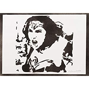 Wonder Woman Justice League Poster Plakat Handmade Graffiti Street Art - Artwork
