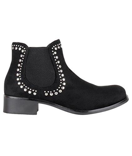 KRISP - Stivali Chelsea donna , nero (Black), 38