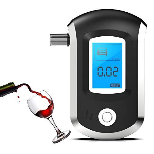 Rybozen Alcoholímetro Digital, Detector Portátil Recargable Alcohol de Aliento con Digital Pantalla...