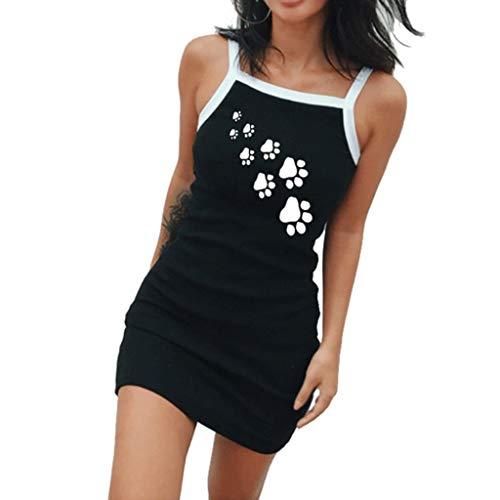 sole Kleid Sommerkleid Beiläufig Mode Lässige Weste Gurt Minikleid ()