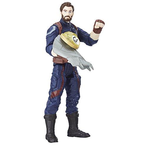 Marvel Figure Infinity War, Captain America with Gem and Accessory (Hasbro E1407EU4)