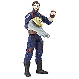 Marvel- Figura Infinity War, Capitan America con Gema y Accesorio (Hasbro E1407EU4)