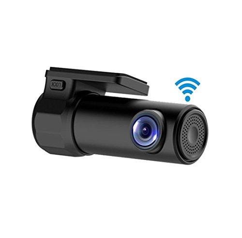 haoyishang Mini WiFi Auto DVR Dash Kamera HD 1080P 170Grad Breit 360° Rotation mit App Monitor für iOS Android Handy