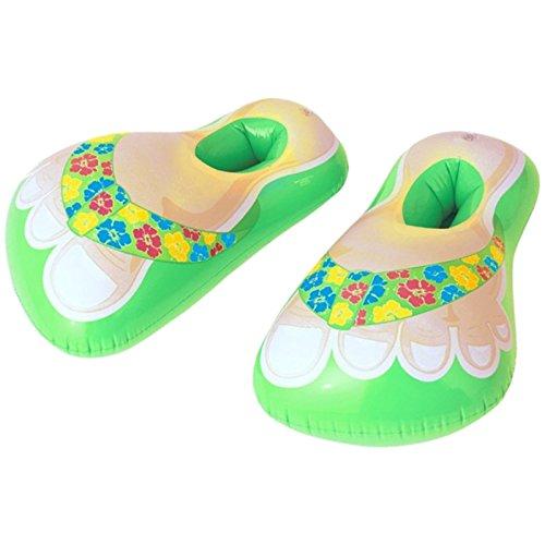 adeschuhe Grün Schuhe Hawai aufblasbar Badelatschen Geschenk ()