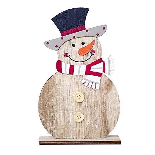 hmuck Schneemann Deko Holz Ornamente Handwerk Ornamente für Party Home Weihnachtsbaum ()