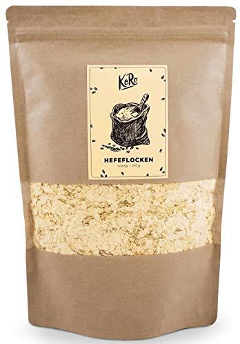 KoRo – Hefeflocken 250 g – Vegane, Nährstoffreiche Nährhefeflocken aus Melasse, Gewürz mit Käse Geschmack, Käseersatz