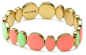 Pilgrim Jewelry Damen-Armband aus der Serie Energetic vergoldet multi mix 17.0 cm 251312802