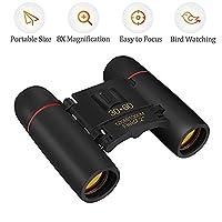 Binoculars for Adults, Qoodus 30 x 60 Compact Binoculars for Bird Watching, Hiking, Hunting, Sightseeing, Small Night Vision Binoculars Waterproof Folding Telescope Pocket Binocular with Carrying Bag