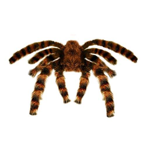 Riesige Vogelspinne mit Haaren Halloween Deko Spinne 75 cm Spinnen Dekoration Dekospinne Tarantel Partydeko Dschungel Gruselige Horror Deko