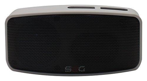 S2G AXESS von SOUND2GO - Bluetooth Lautsprecher mit Freisprecheinrichtung, Micro-SD Slot, USB-Player und FM-Radio - silber/schwarz
