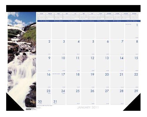 House of Doolittle Earthscapes cascate del Mondo-Calendario da scrivania, 12 mesi, da gennaio 2011 al dicembre 2011, 55,88 43,18 cm x 17 x (22