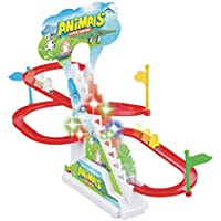 Popsugar Happy Dolphin Race Track Set with Music and Lights,