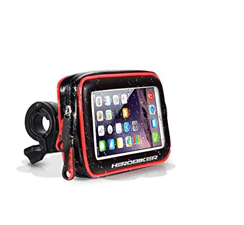 CAR SHUN Wasserdichte Tasche Bike Phone Mount Mobile Handyhalter Motorrad Fahrradhalterung Wasserdichte Abdeckung iPhone Handytasche Reiten Handy Halterung,Fastdismantling,L -